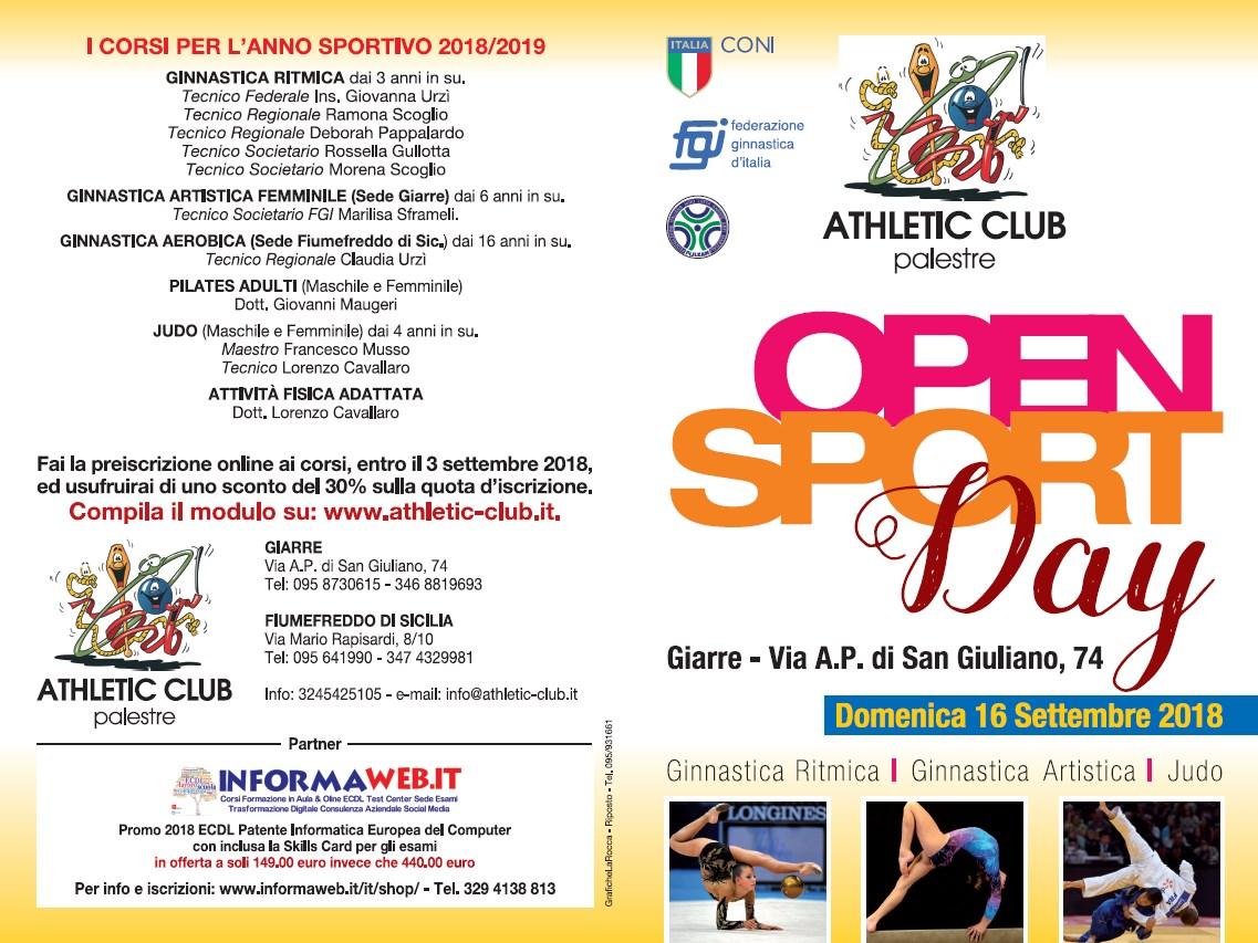 Open Sport Day 16 Settembre
