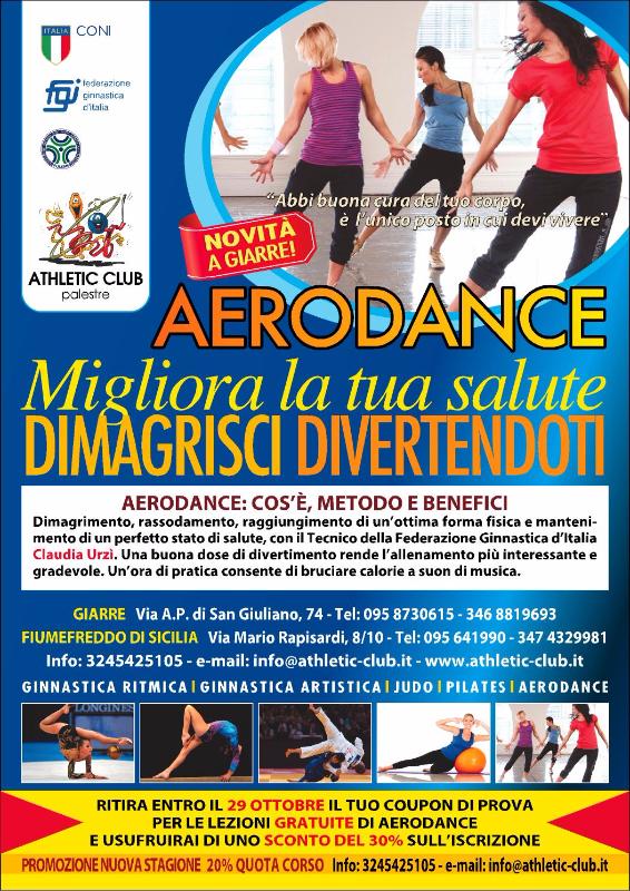 Novità a Giarre – Aerodance